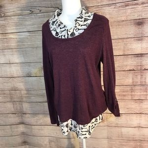 Style&co Sweater Blouse ( Size Large )